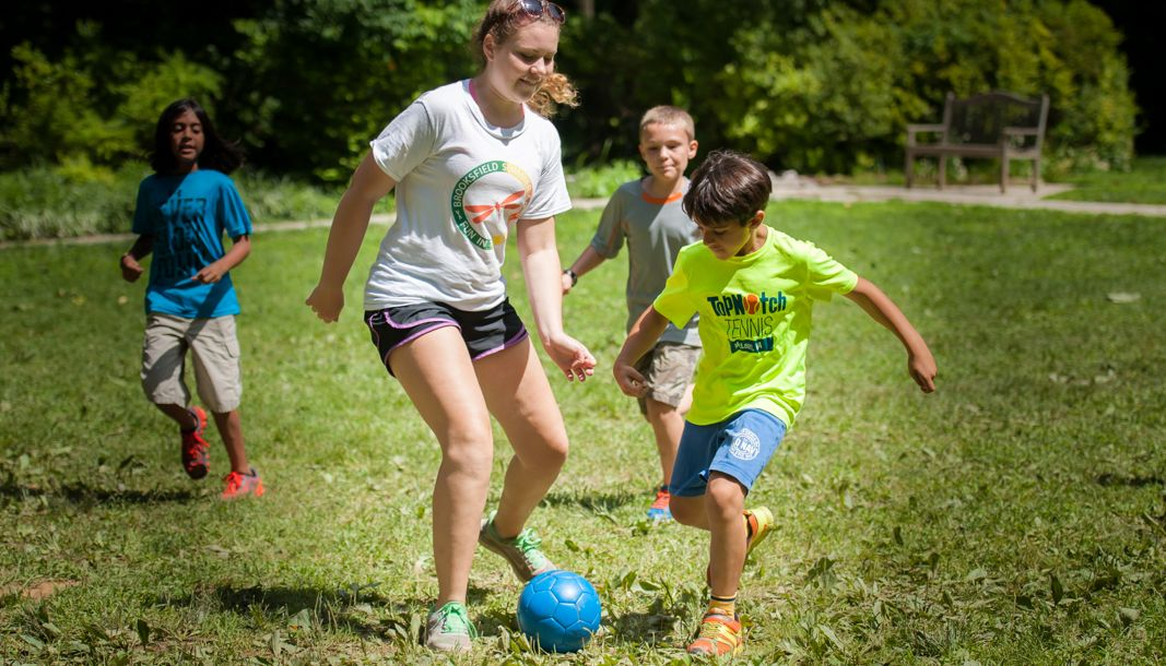 soccer at summer camp